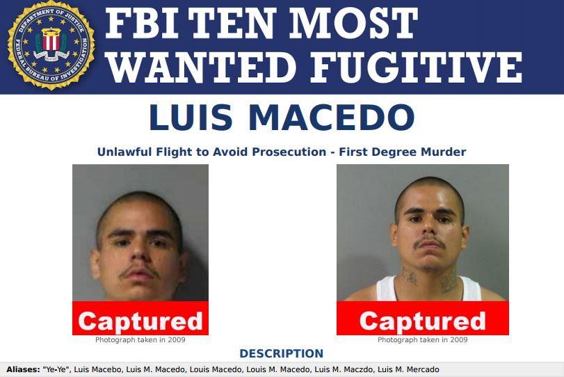 Arrestan a Luis Macedo en México, uno de los más buscados por el FBI