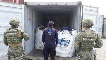 aseguran cocaina buque con destino japon