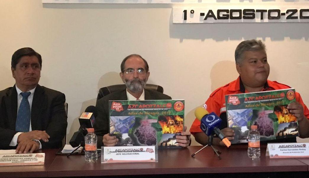 Delegación Azcapotzalco presenta Atlas Riesgos demarcación