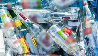 botellas de alcohol vacias en el edomex