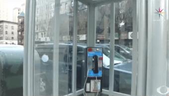 Cabinas telefónicas narran historias de migrantes en Times Square