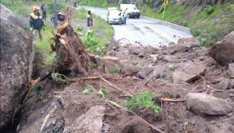 derrumbe en carretera Chilpancingo-Tixtla en Guerrero
