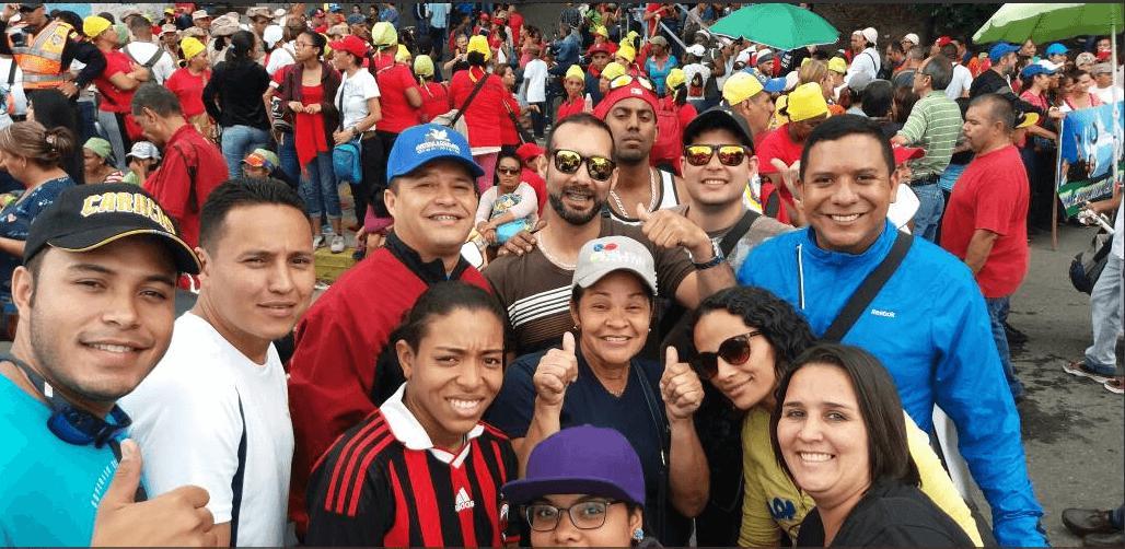 Chavistas se concentran en Caracas para apoyar a la Asamblea Constituyente.