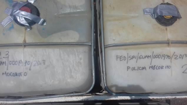 Bidones con combustible robado son incautados por autoridades de Sinaloa