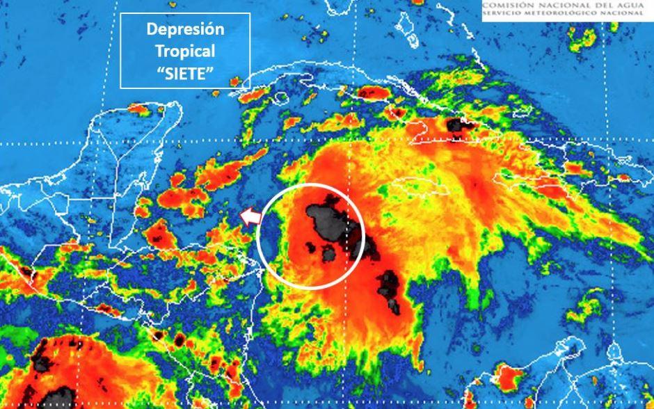 Se desarrolla Depresión Tropical 7 en el Océano Atlántico