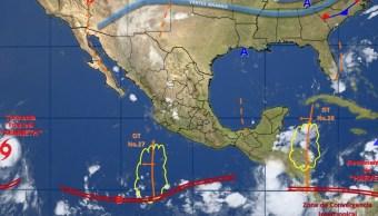 Onda tropical 27 se localizará frente a las costas de Jalisco y Colima