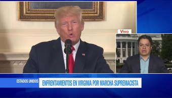Trump, supremacistas blancos, protestas, enfrentamientos