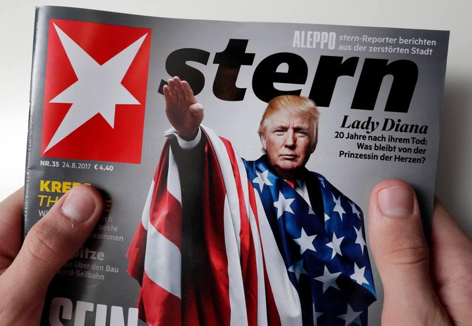 Trump aparece haciendo saludo nazi en la portada de revista alemana
