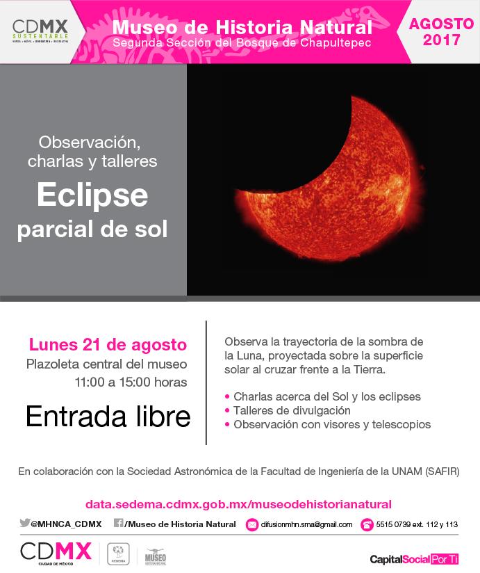 Museo de Historia Natural, Eclipse Solar, 21 de agosto, CDMX