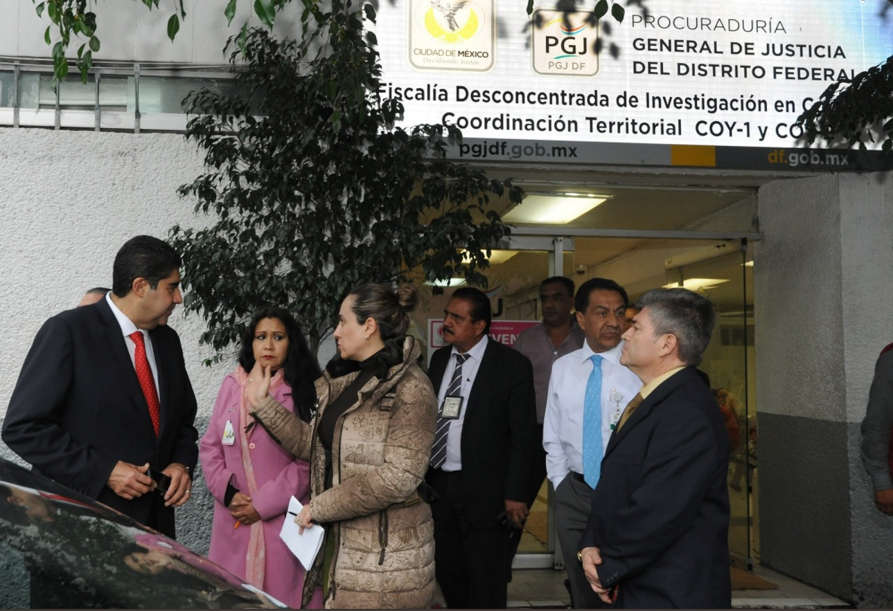Edmundo Garrido visita la fiscalia de coyoacan