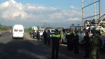 talamontes atacan a policías en Villa del Carbón