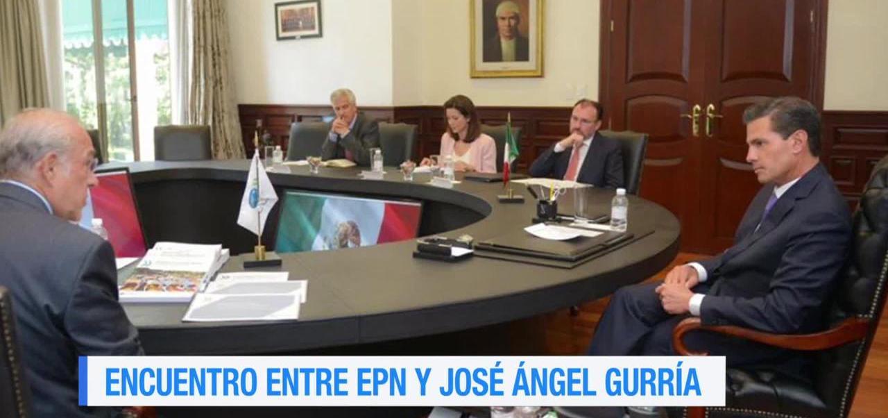 Epn Reune Jose Angel Gurria Presidente Enrique Peña Nieto