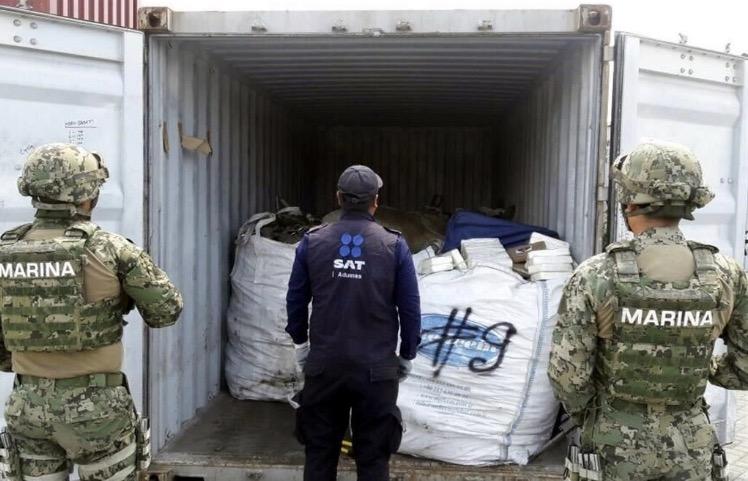 marina buque cocaina asegura lazaro cardenas