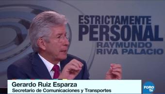 Gerardo Ruiz Esparza en entrevista para Estrictamente Personal