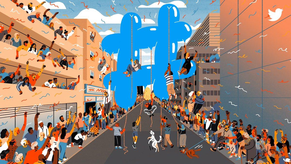 Hashtag símbolo activismo y ocio Twitter cumple 10 anos