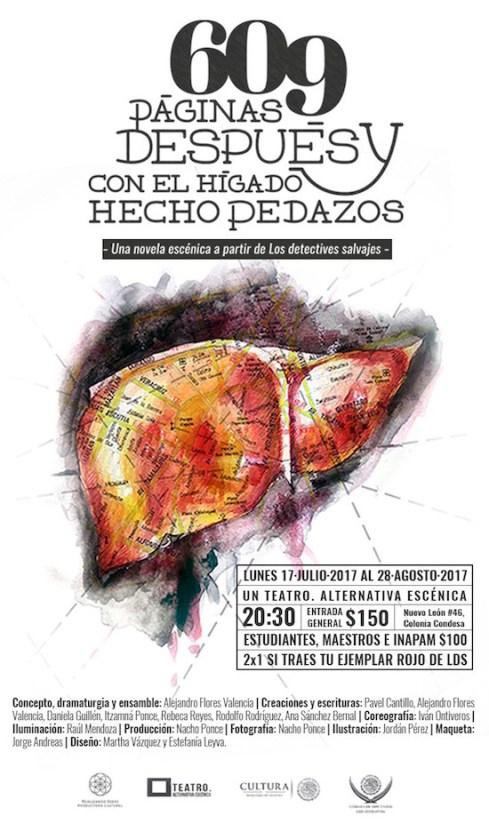 Higado hecho pedazos, Detectives Salvajes, Roberto Bolaño