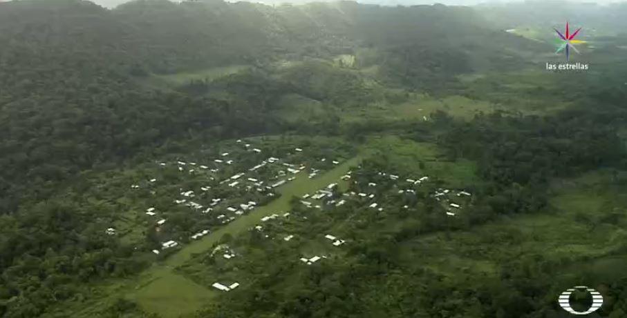 Imagen aérea de las comunidades indígenas en Chiapas