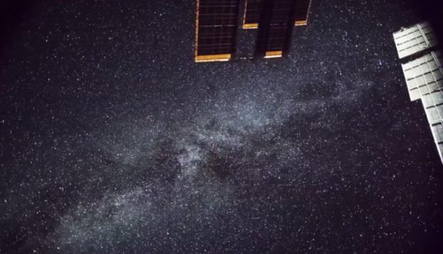 La imagen de la Vía Láctea tomada desde la Estación Espacial Internacional