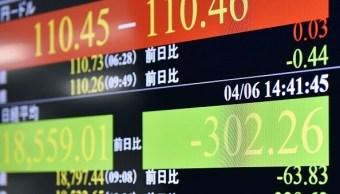 La Bolsa de Tokio empezó la semana con pérdidas