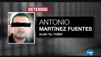 """Detienen en Puebla a """"El Toñín"""", líder de huachicoleros"""