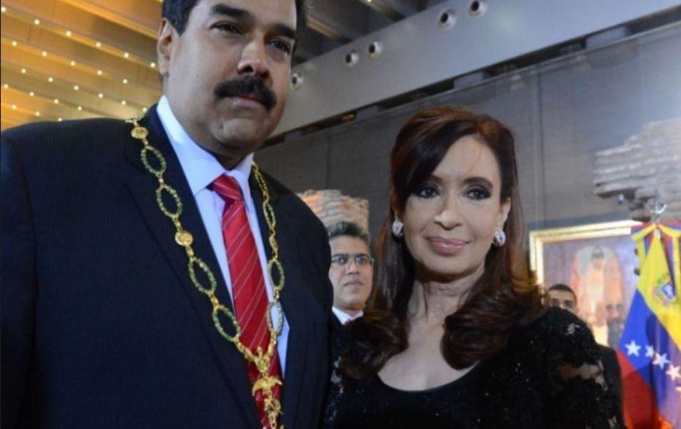 Argentina retira a Maduro una condecoración otorgada por Cristina Fernández
