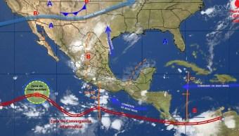 mapa con el clima para este 16 de agosto