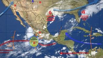 mapa con el clima para este 28 de agosto