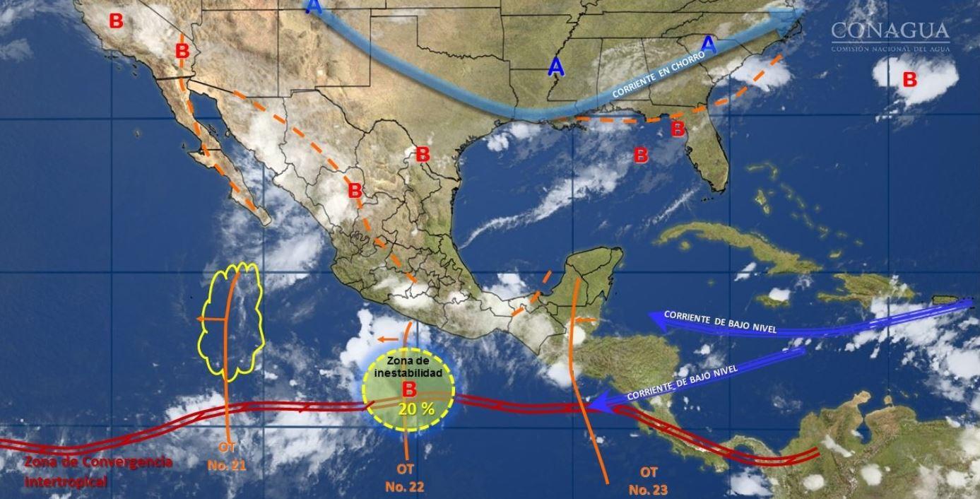 Pronóstico del tiempo para el viernes 4 de agosto de 2017