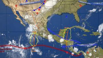 mapa con el pronostico del clima para este 17 de agosto