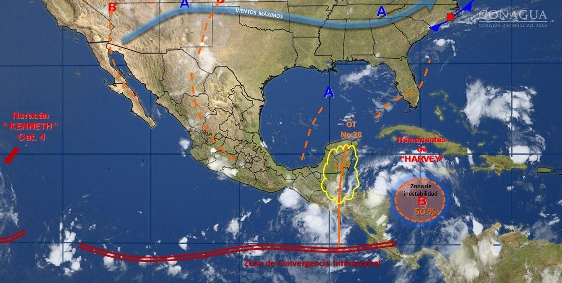 Canal de baja presión traería más lluvias: SMN