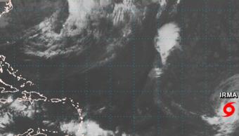 Mapa de la ubicación de las tormentas Harvey e Irma