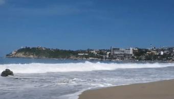 Oleaje elevado por mar de fondo en Oaxaca
