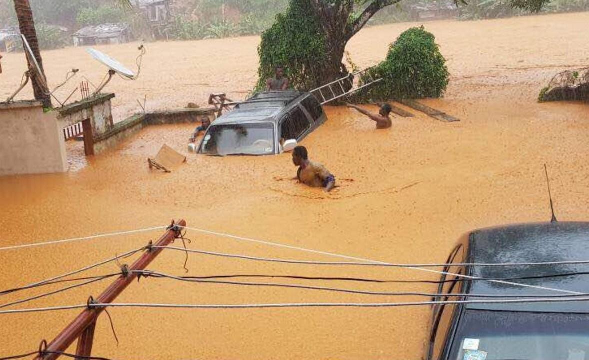 Inundaciones en Sierra Leona dejan al menos 200 muertos