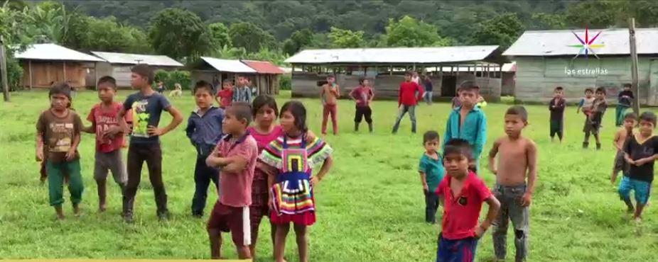 Niños indígenas en comunidades de Chiapas