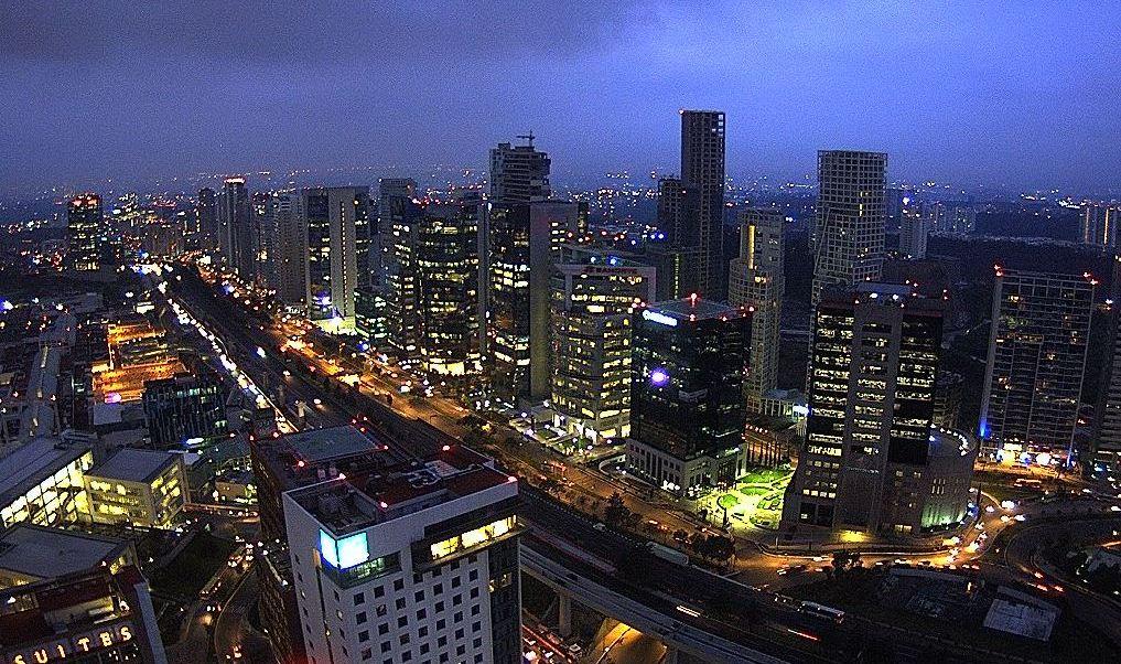 Nublado amanecer en la Ciudad de México