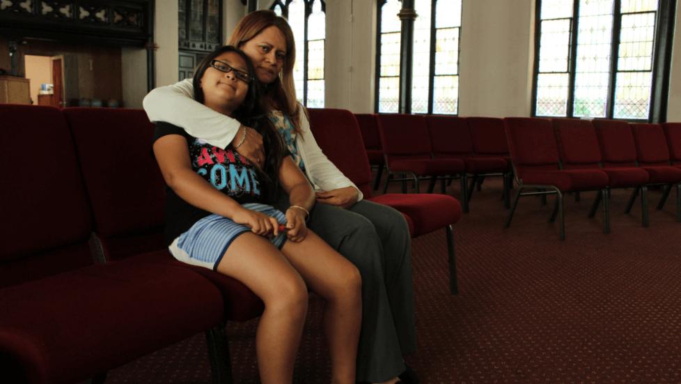 Nury Chavarría, inmigrante refugiada en una iglesia