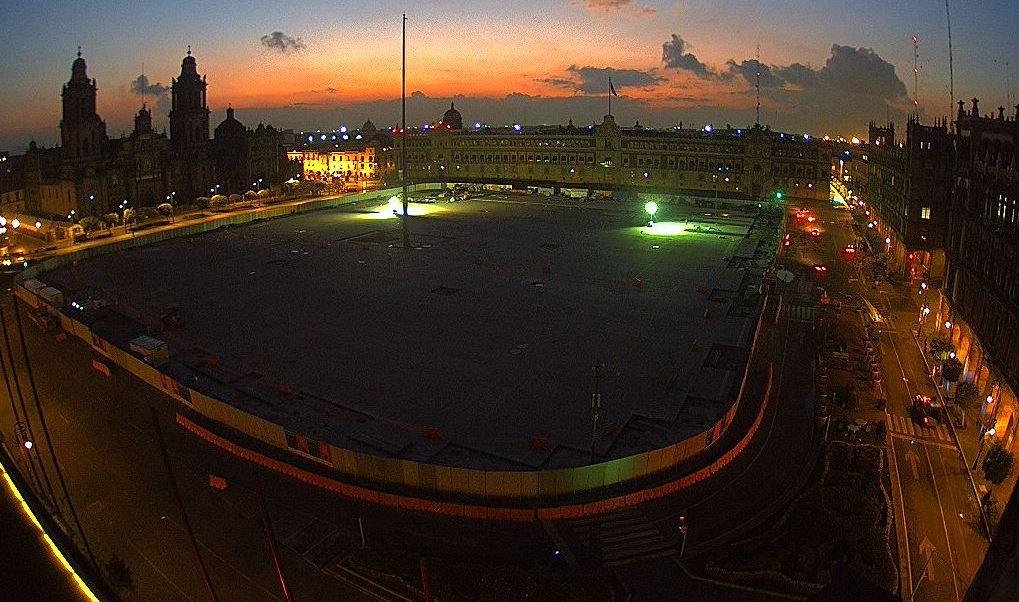 panoramica del zocalo de la ciudad de mexico
