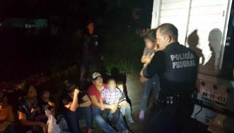 policias federales rescatan a migrantes centroamericanos