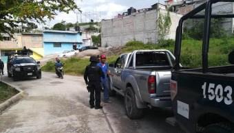 Policias federales realiza operativo en calles de mexico