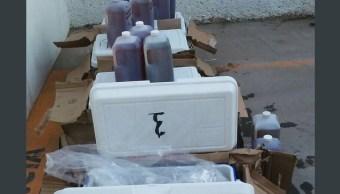 Localizan precursores químicos en un autobús en Sonora