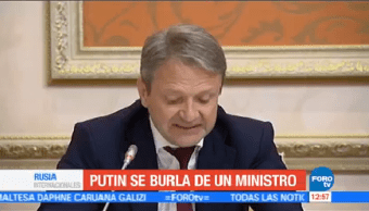 Putin Burla Ministro Agricultura Presidente Ruso Vladimir Putin