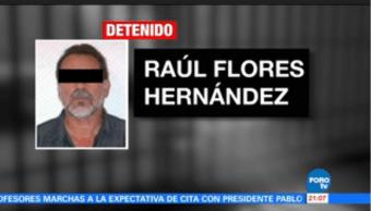 PGR confirma detención Raúl Flores Hernández