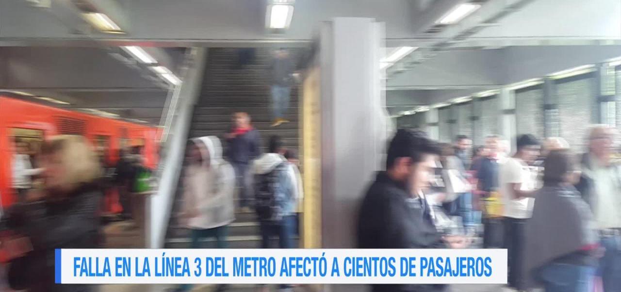 Registra Falla L3 Metro Cdmx
