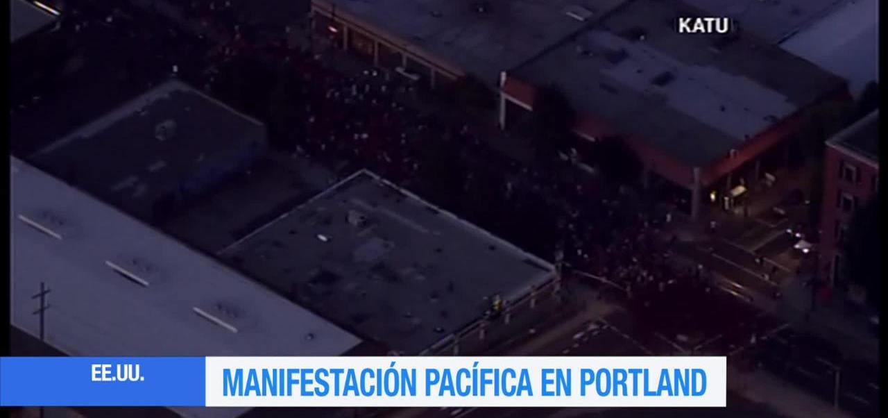 Se registra manifestación pacífica en Portland