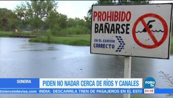 Sonora emite alerta por posible crecimiento de ríos y arroyos