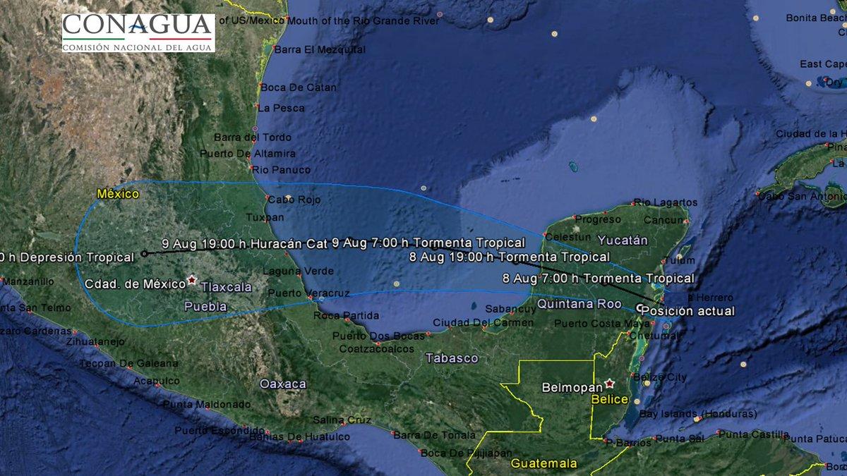 tormenta tropical franklin toca tierra yucatan