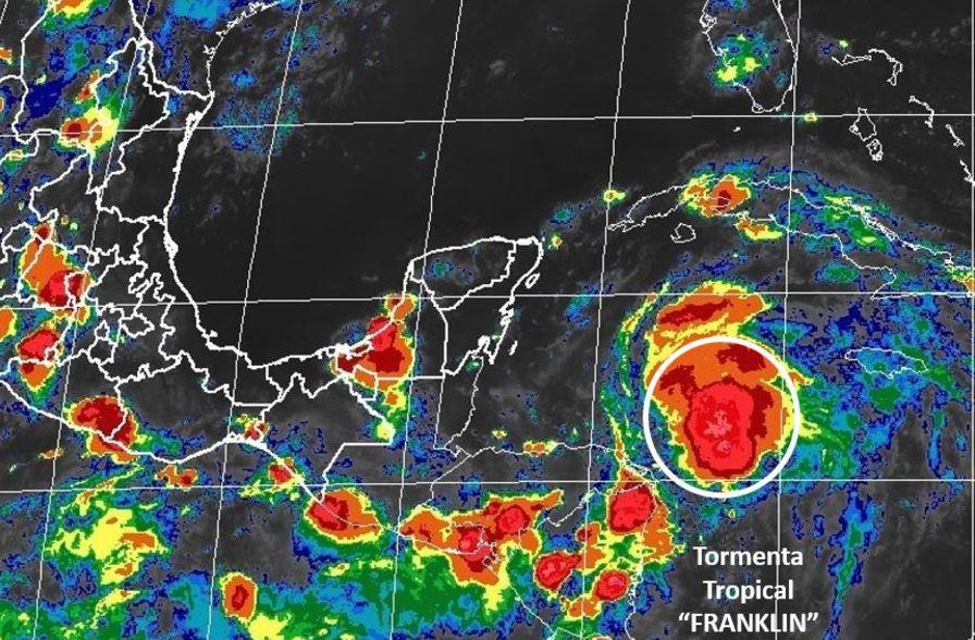 tormenta tropical franklin dirige peninsula yucatan