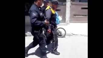 agente de tránsito, disparo, resortera, guayaba, bicicleta, guanajuato