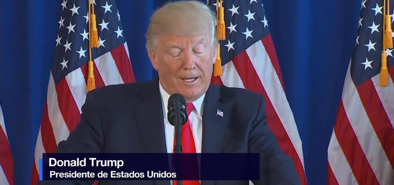 Trump, condena, violencia, protestas