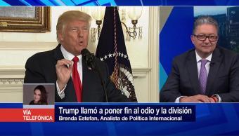 Trump Llama Poner Fin Odio División Analista Política Internacional Brenda Estefan